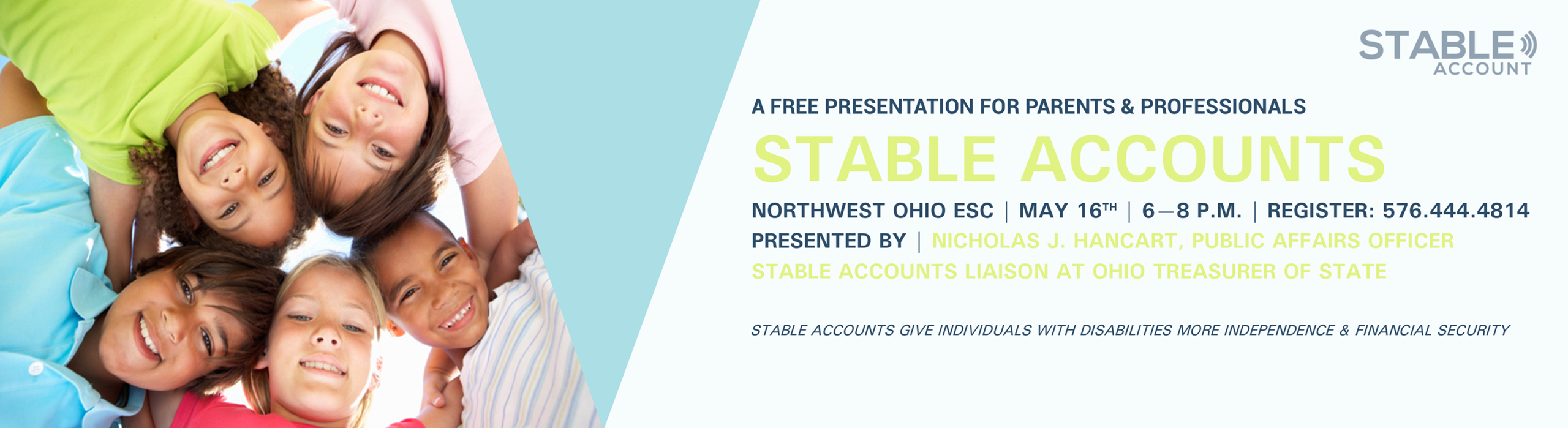 Invitation to Stable Accounts presentation