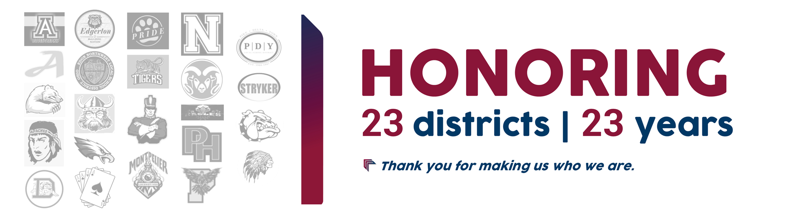 Honoring 23 districts