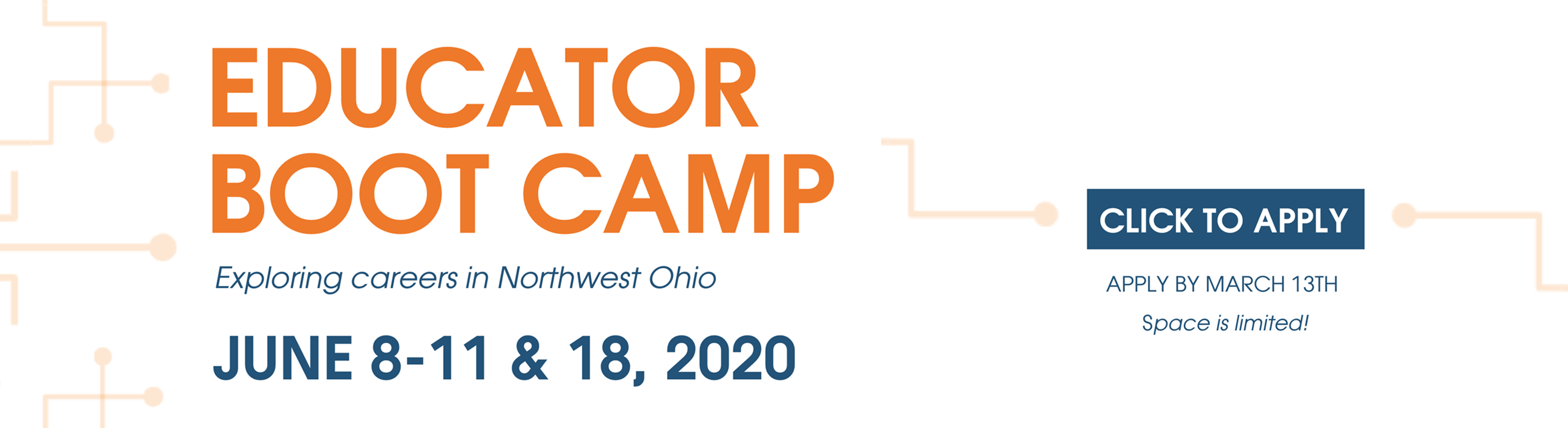 Educator Boot Camp for Northwest Ohio application available