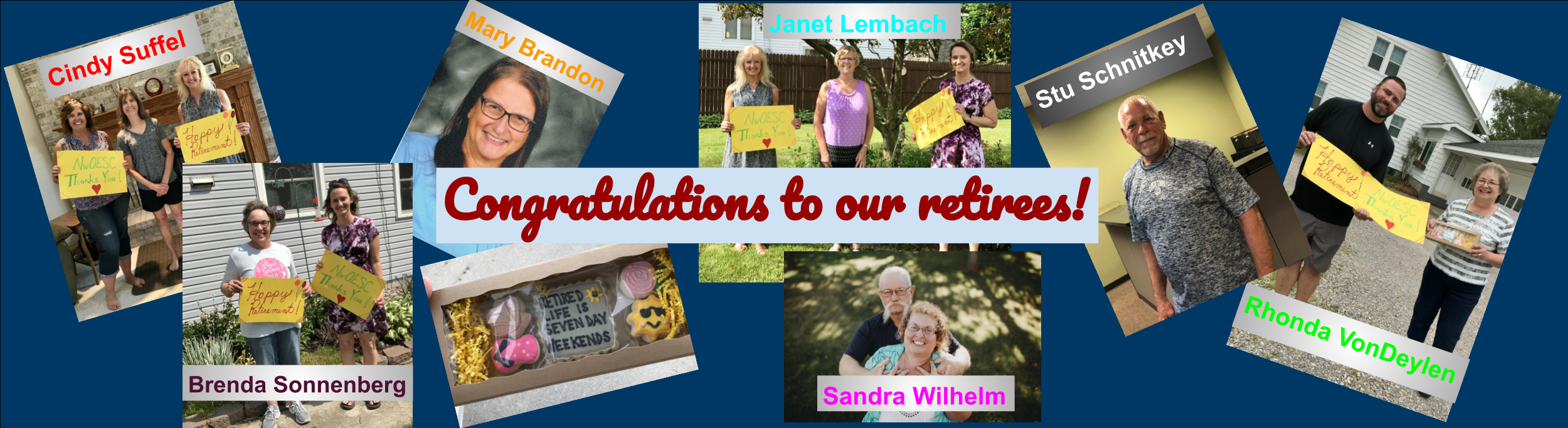 Congratulations to our retirees!