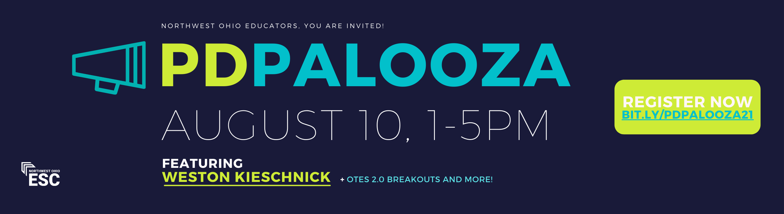 Register for PD Palooza on August 10th